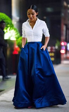 Gliding and Gorgeous from Yara Shahidi s Best Looks Mode Outfits, Skirt Outfits, Fashion Outfits, Womens Fashion, Looks Style, My Style, Look Formal, Mode Chic, Mode Inspiration