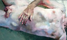 Skin 1, acrylic on canvas, 90 x 150 cm, 2009