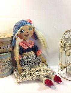Art doll-Cloth art doll-OOAK doll-Textile dolls-Collecting doll-Stuffed doll-Fabric doll-Soft doll-Doll-Rag doll-Cotton doll