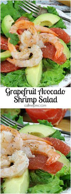 Grapefruit Avocado Shrimp Salad » Call Me PMc