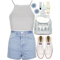 Silver by tinasxx on Polyvore featuring Topshop, Converse, Urbancode, R.J. Graziano, Forever 21, Bobbi Brown Cosmetics, Essie, Urbanears, white and denim