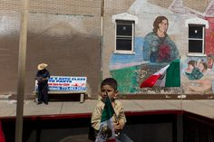 Alex Webb  USA. Chicago. 2011. Mexican Independence Day celebrations.