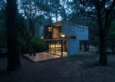 Luciano Kruk's board-marked concrete holiday home near Buenos Aires