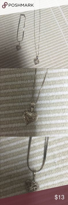 Heart necklace and bracelet Chain and bracelet are both 925 not sure about hearts Jewelry Necklaces