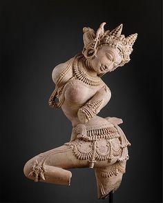 Dancing Celestial Deity (Devata). Date: early 12th century. Culture: India (Uttar Pradesh). Medium: Sandstone.