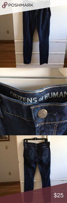EUC COH Skinny Straight Jeans Size 29 Dark Wash EUC COH Skinny Straight Jeans Size 29 Dark Wash Citizens Of Humanity Jeans Straight Leg