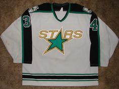 Dallas Stars Original White Jersey 1993 94 nhl stars 1994 1993 1990 1999