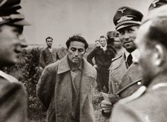 Yakov Dzhugashvili, Stalin's elder son (standing between the German officers) was taken POW on July 16, 1941. Yakov, an artillery officer, was immediately put under interrogation by the surprised Germans. Stalin was furious and disowned Yakov the minute his capture was communicated to Moscow. Sent to the Sachsenhausen concentration camp, Yakov was shot dead by a guard when he allegedly refused to obey orders on April 14, 1943.