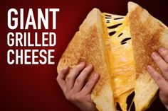 Calories The post Giant Grilled Cheese appeared first on Hellthy Junk Food. Mcdonald French Fries, Cafeteria Food, Easy Bake Oven, Giant Food, Good Food, Yummy Food, Healthy Food, Protein, Recipe Using