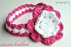 Seed Stitch Baby Headband
