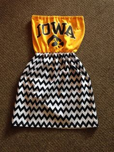 Game Day Strapless Dress Iowa Hawkeyes