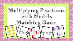 This matching game comes with 18 multiplication equations that involve a whole number and a fraction and a matching card that uses pictures to model the equations. This game is designed to help students visualize what it means to multiply decimals.