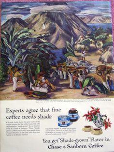 VINTAGE 1946 CHASE & SANBORN COFFEE AD - DORIS ROSENTHAL ART - MAY