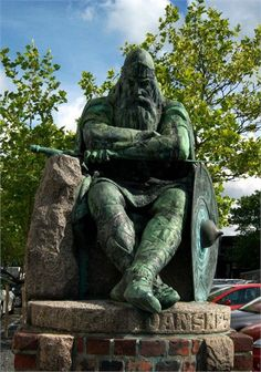 "Harald ""Bluetooth"" Gormsson (c. 935-c.986) King of Denmark and Norway. He was the son of King Gorm the Old and of Thyra Dannebod. He ruled as King of Denmark from c. 958 and King of Norway for a few years probably around 970. Some sources say his son Sweyn Forkbeard forcibly deposed him as King. He married Gyrid Olafsdottir of Sweden c950 and, secondly, Thora (Tova) the daughter of Mistivir in 970."