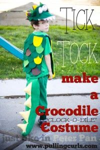 Making a crocodile costume at home isn't hard.  Just grab your glue come and come see how!