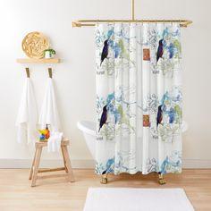 'Art trough me' Duschvorhang von Kathi Rea Home And Living, Curtains, Shower, Art Prints, Design, Rain Shower Heads, Art Impressions, Blinds