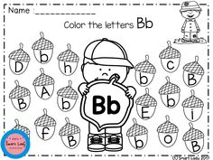 Alphabet Color Fun Activities (FALL EDITION)  We make ALPHABET COLOR FUN ACTIVITIES, to teach kids to practice coloring and get to know the alphabet quickly and fun.