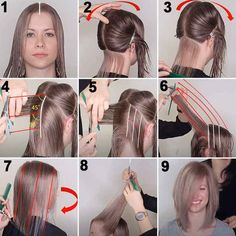 Cut Hair At Home, Cut Hair Diy, Hair Cutting Techniques, Diy Haircut, How To Cut Your Own Hair, Long Layered Haircuts, Corte Y Color, Girl Haircuts, Long Hair Cuts