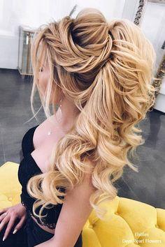 Elstiles long wedding hairstyles for the bride # Hairstyles Bridal Hair Updo, Wedding Hairstyles For Long Hair, Wedding Hair And Makeup, Bride Hairstyles, Cool Hairstyles, Hair Makeup, Formal Hairstyles, Hairstyle Ideas, Grecian Hairstyles