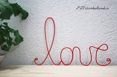 personalized valentine gifts love sign cursive by MCWonderland