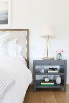 Bedside table + lamp | Studio McGee