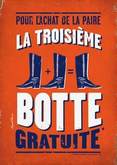 Auguste derrière Publicités décalées style vintage. A retrouver sur : http://www.augustederriereboutique.com/