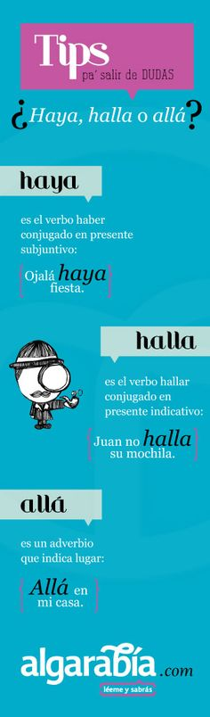 ¿Haya, halla o allá?  #Tip #Lengua