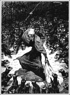 Bernie Wrightson illustating Stephen King's masterpiece THE STAND. (Mother Abigale)