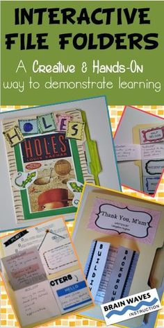 Turn a regular file folder into a creative expression of learning!  Check out how interactive file folders can be a motivating and engaging way for students to demonstrate their learning.