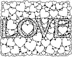 love coloring page for adults in jpg and transparent png format #adultcoloring