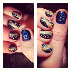 Doctor Who themed nails