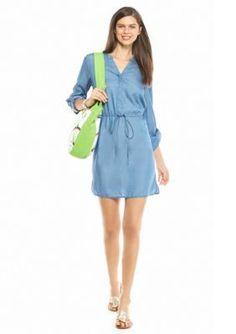 crown  ivy   Petite Tencel174 Shirt Dress