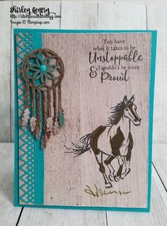 Stampin with Shirley G – Page 2 – Inspire, Create, Share Horse Birthday, Male Birthday, Feather Cards, Horse Cards, Hand Stamped Cards, Birthday Cards For Men, Stamping Up Cards, Animal Cards, Ink Pads