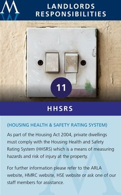 Housing health & safety rating system