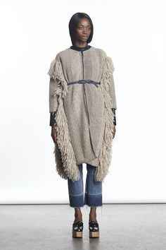 Pin for Later: Fringe Benefits: The Fashion Week Trend You Actually Need to Own Rachel Comey Fall 2015
