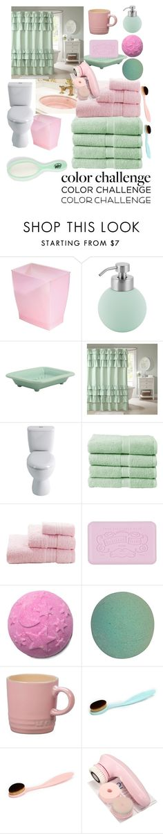 """Bathroom"" by meguluka143 ❤ liked on Polyvore featuring interior, interiors, interior design, home, home decor, interior decorating, InterDesign, Aquanova, Madison Park and Christy"