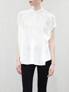 Acne/ Scallop Pleat Shirt