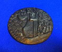 Vintage German Bronze Coin Christianity E. Weinert #AP