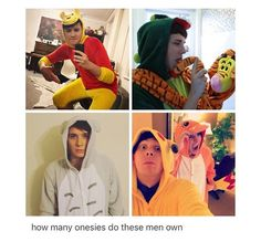I've only seen 7- Winnie the Pooh, dinosaur, lion, Totoro, giraffe, and the two Pokemon onesies