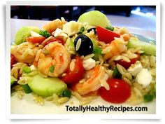Go Greek! Healthy Shrimp Recipe with Orzo #shrimp #recipes #healthy #food