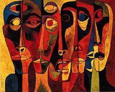by Oswaldo Guayasamin Quito, Ecuador) Arte Latina, Beautiful Paintings, Face Art, Figurative Art, American Art, Abstract Art, Art Gallery, Drawings, Illustration