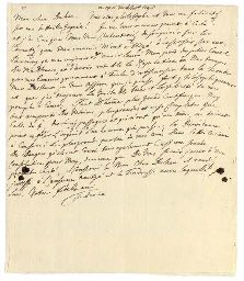 FREDERICK II (1712-1786, 'the Great'), King of Prussia. Autograph letter signed ('Federic') to Jacques-Égide Duhan de Jaudun, Nachod, 14 [June] 1745, one page, 4to, integral blank, docketed 'Reçu le 19 de juin 1745'
