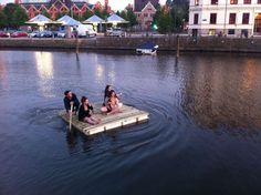 The raft on the canal, The Raft at Participatory vs. Consensus with Max Ronnersjö Rafting, Artist, Artists