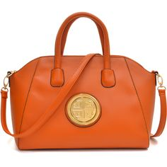 It's orange and it looks like a Tory  Burch. Winner! Removable shoulder straps, interior open top and zip closure pockets with a flat bottom design for easy stand up will provide chic support whatever the day holds.