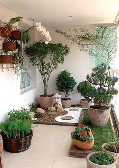Apartment Balcony Garden, Small Balcony Garden, Small Balcony Decor, Terrace Garden, Balcony Ideas, Balcony Gardening, Balcony Decoration, Indoor Gardening, Outdoor Balcony