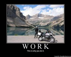 (De)Motivational Motorcycle Poster: work