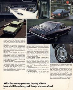 Gm  Chevrolet Nova Sales Brochure  Old Car Brochures