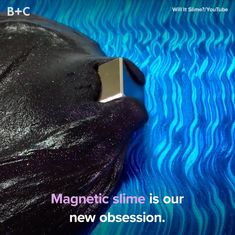 Magnet slime will blow your mind. Magnet slime will blow your mind.Slime go glopMagnetic Slime Is Our New ObsessionReminds me of a gelatinous cube.All I can see is some con man screwing with someone gullible about a slime monster
