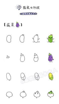 如何画萌萌哒蔬菜,来自@基质的菊长大人