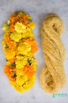 marigold. via http://paigegreen.wordpress.com/2008/10/13/natural-dyes-with-mimi-and-california-country-magazine/